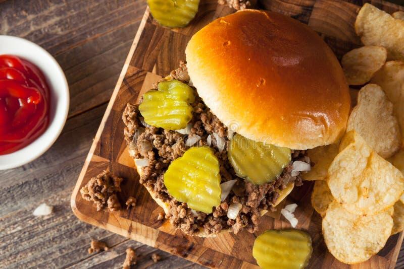 Sanduíche fraco caseiro da taberna da carne fotos de stock