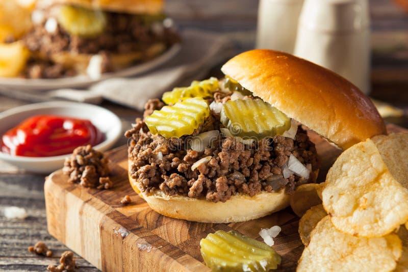 Sanduíche fraco caseiro da taberna da carne imagens de stock royalty free