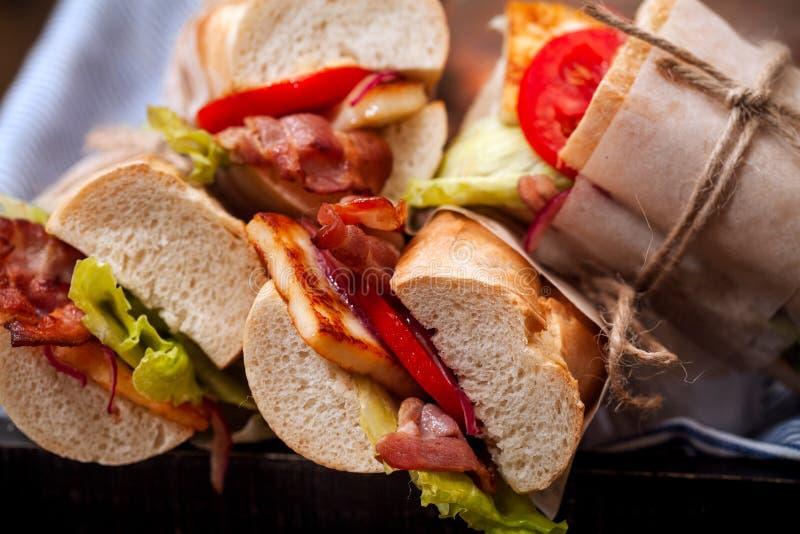 Sanduíche fresco bahn-MI do baguette denominado fotos de stock royalty free