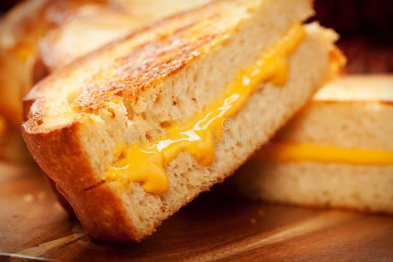 Sanduíche grelhado do queijo fotografia de stock royalty free