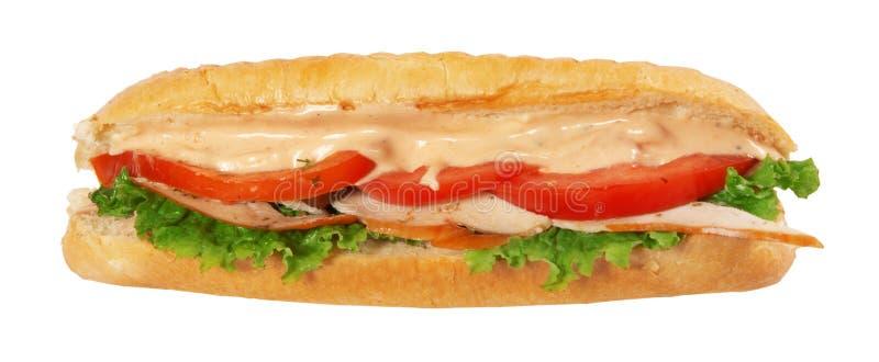 Sanduíche longo do baguette foto de stock royalty free