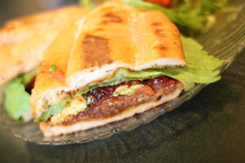 Sanduíche milanês ou mexicano de Torta do estilo imagens de stock