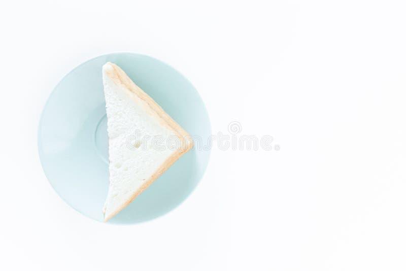 Sanduíche no prato imagem de stock royalty free