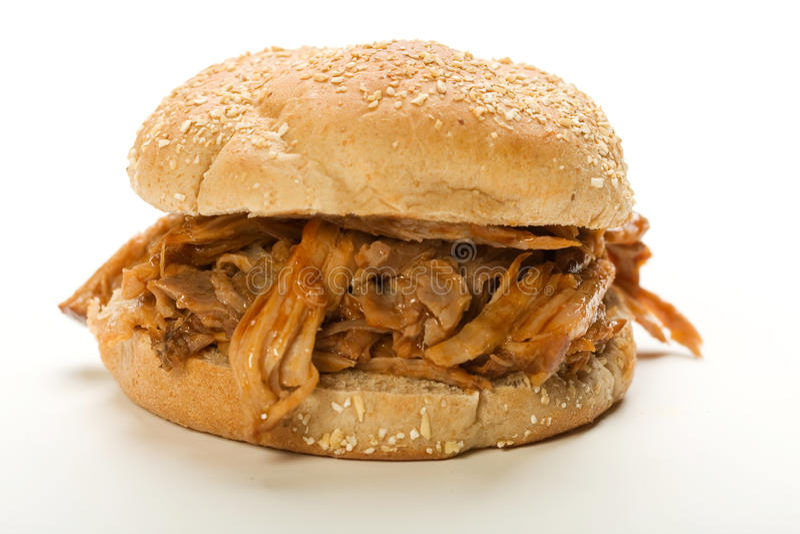 Sanduíche puxado da carne de porco imagem de stock