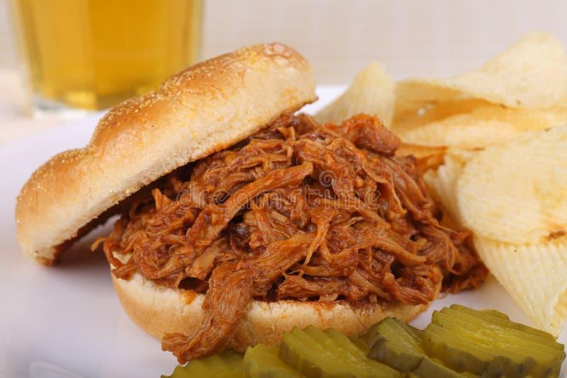 Sanduíche puxado da carne de porco foto de stock royalty free