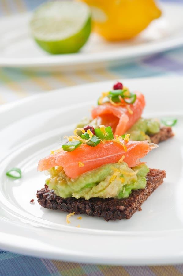 Sanduíche Salmon fotografia de stock royalty free