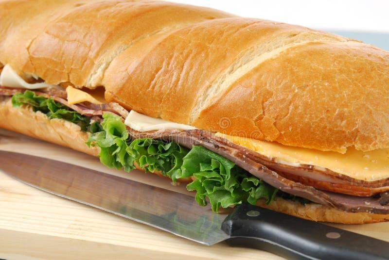 Sanduíche secundário fotografia de stock