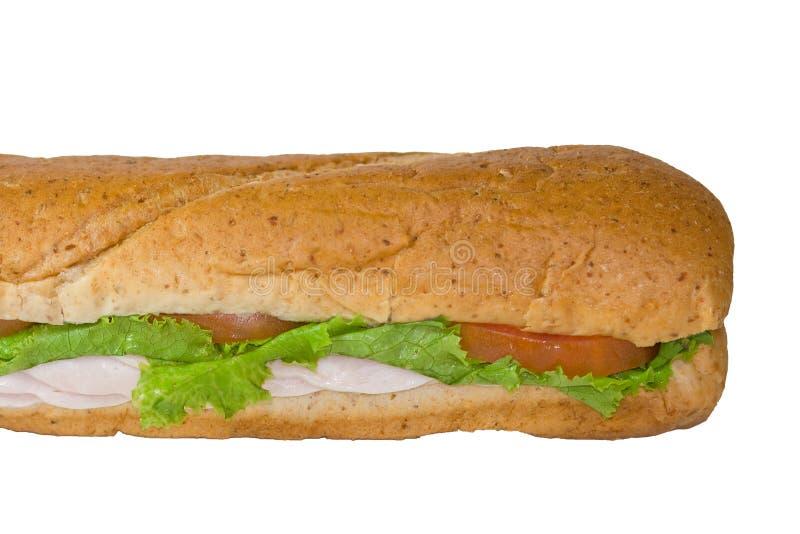 Sanduíche secundário isolado. imagem de stock royalty free