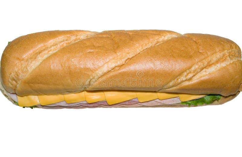 Sanduíche secundário isolado no branco da parte superior. fotos de stock