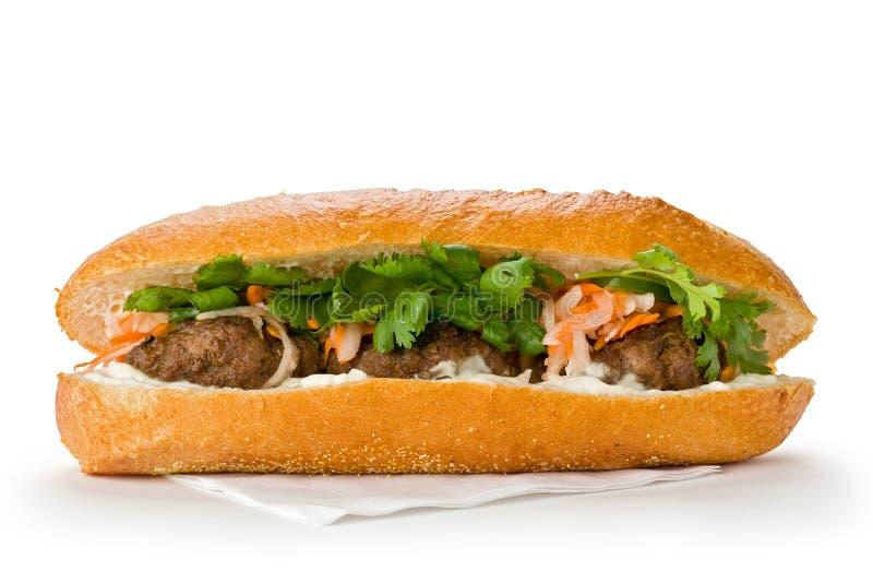 Sanduíche vietnamiano fotos de stock