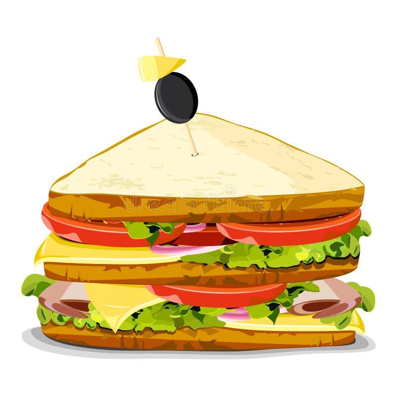 Sanduíche Yummy ilustração royalty free