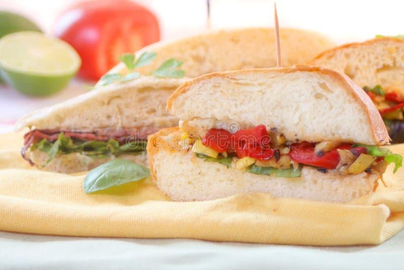 Sanduíches do gourmet imagem de stock