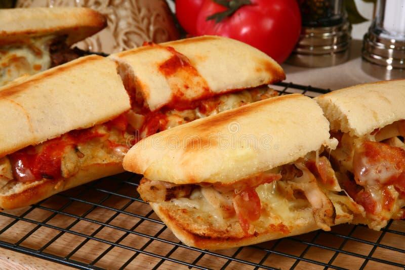 Sanduíches secundários quentes fotos de stock