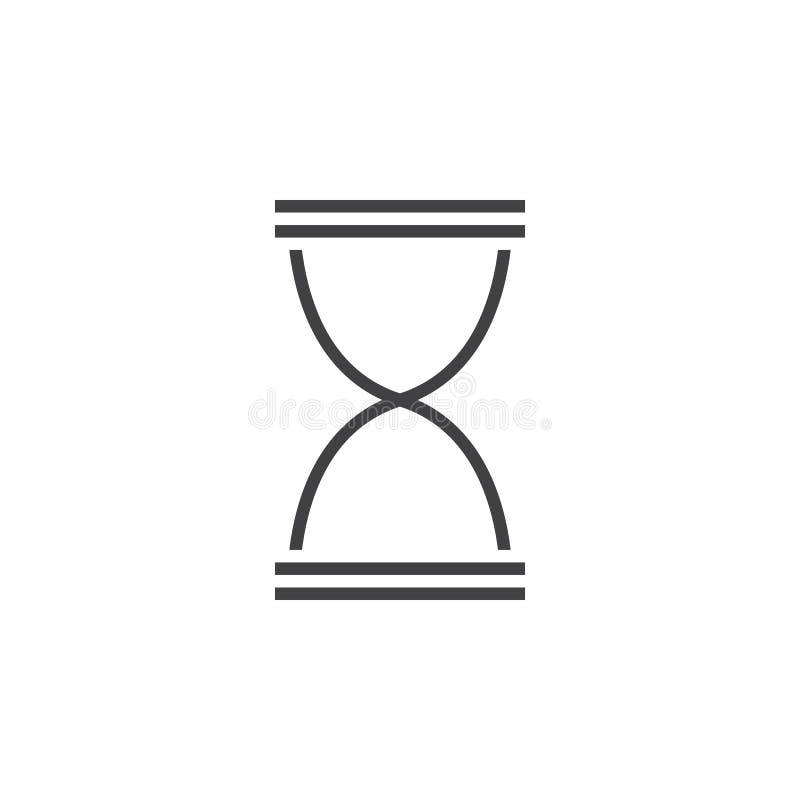 Download Sanduhrlinie Ikone, Entwurfslogoillustration, Linearer PU Stock Abbildung - Illustration von timer, sand: 90234612
