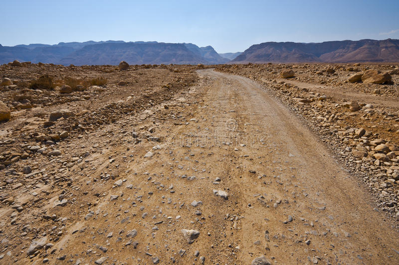 Sandväg arkivbild