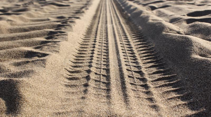 Sandvägdetalj arkivfoto
