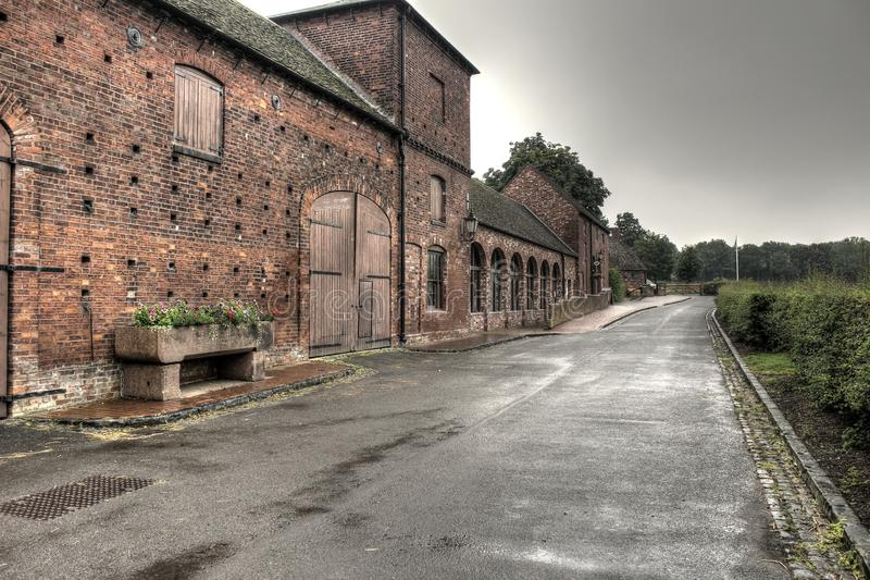Sandwell-Park-Bauernhof nr West Bromwich, England lizenzfreie stockfotografie
