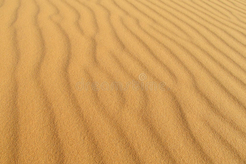 Sandwellen-Wüstenmuster stockfoto