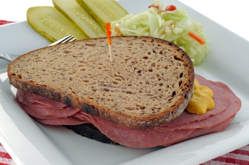 Sandwich à épicerie image libre de droits