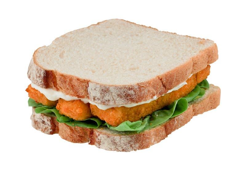 Sandwich à bâton de poisson d'isolement photo libre de droits