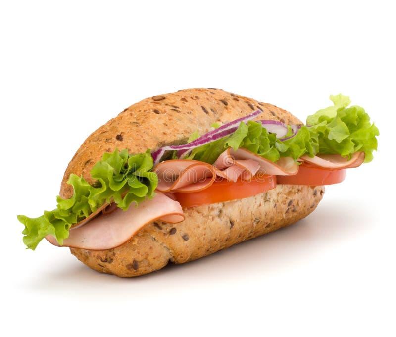 Sandwich à baguette photographie stock libre de droits