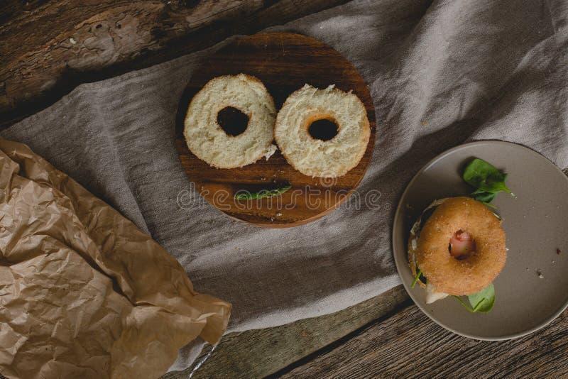 Sandwich à beignet image stock