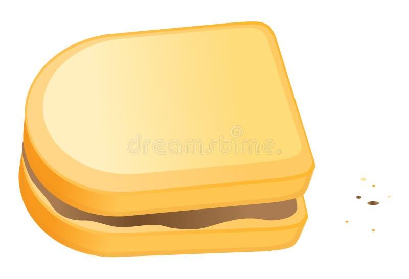 Sandwich à beurre d'arachide illustration stock