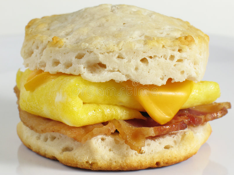 Sandwich à biscuit de lard photo libre de droits