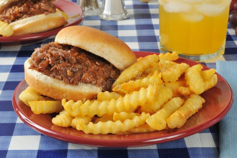 Sandwich à boeuf de barbecue photographie stock