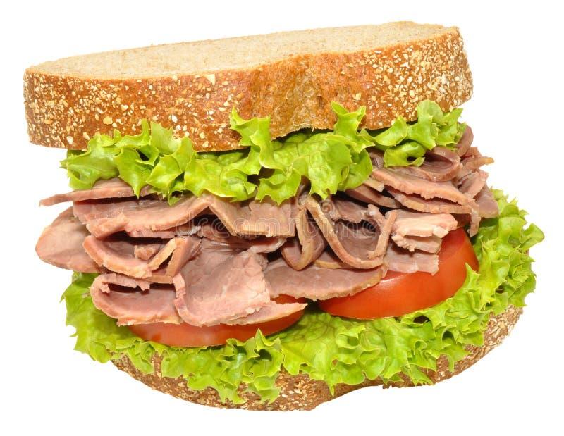 Sandwich à boeuf et à salade images libres de droits