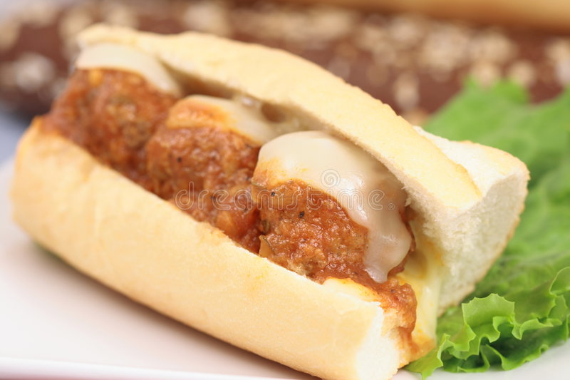 Sandwich à boulettes de viande image stock