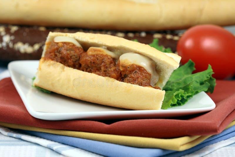 sandwich à boulettes de viande image libre de droits
