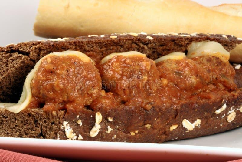 sandwich à boulettes de viande images libres de droits