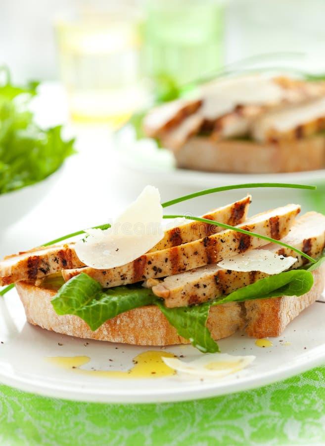 Sandwich à César de poulet images libres de droits