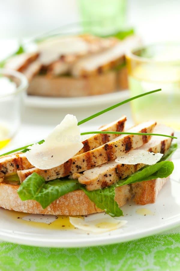 Sandwich à César de poulet image libre de droits