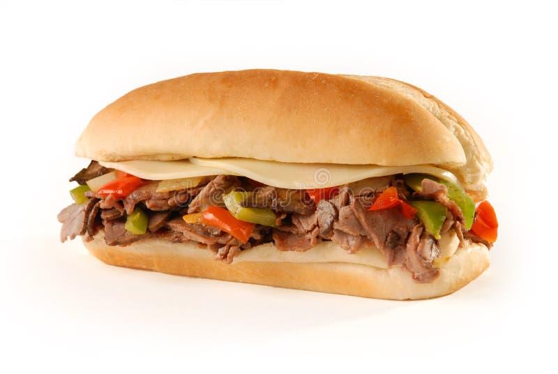 Sandwich à cheesesteak de Philly photographie stock