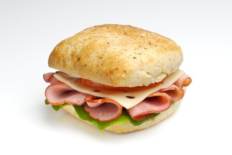 sandwich à chemin de jambon de découpage de fromage images stock