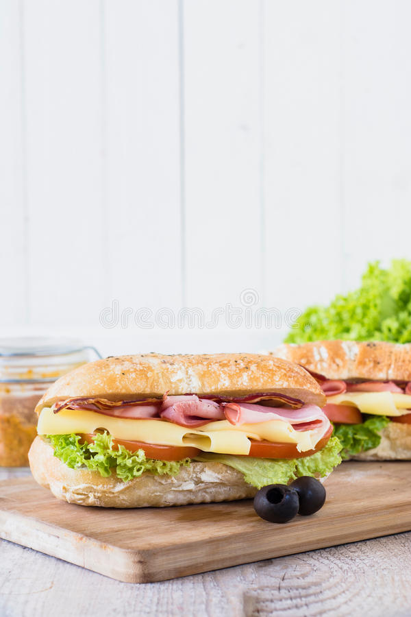 Sandwich à ciabatta images libres de droits