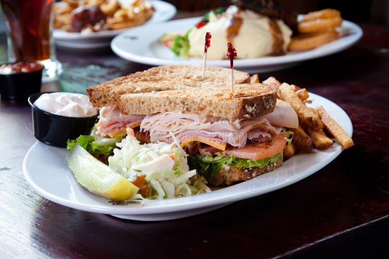 Sandwich à club photographie stock libre de droits