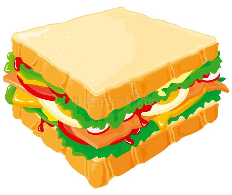 Sandwich à club illustration stock