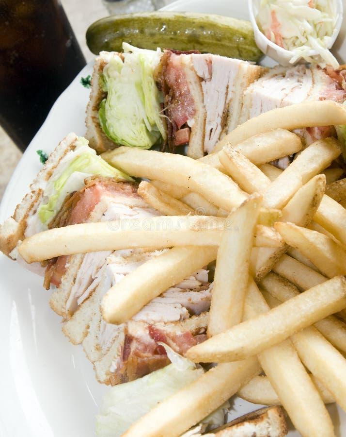 Sandwich à club de la Turquie photographie stock