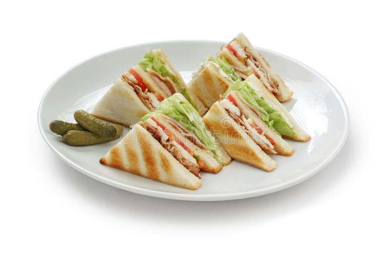 Sandwich à club, sandwich à pavillion photographie stock libre de droits