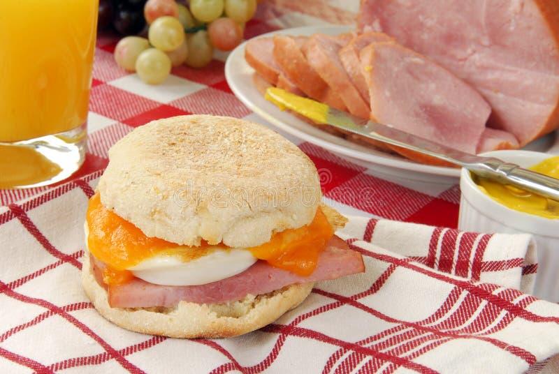 Sandwich à déjeuner de pain anglais photo stock