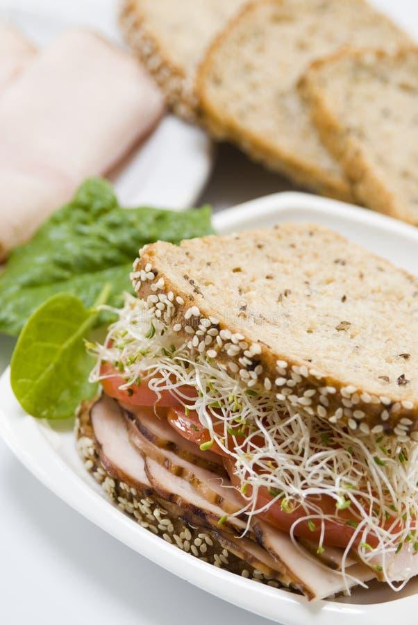 Sandwich à Gourmet De Jambon Images stock