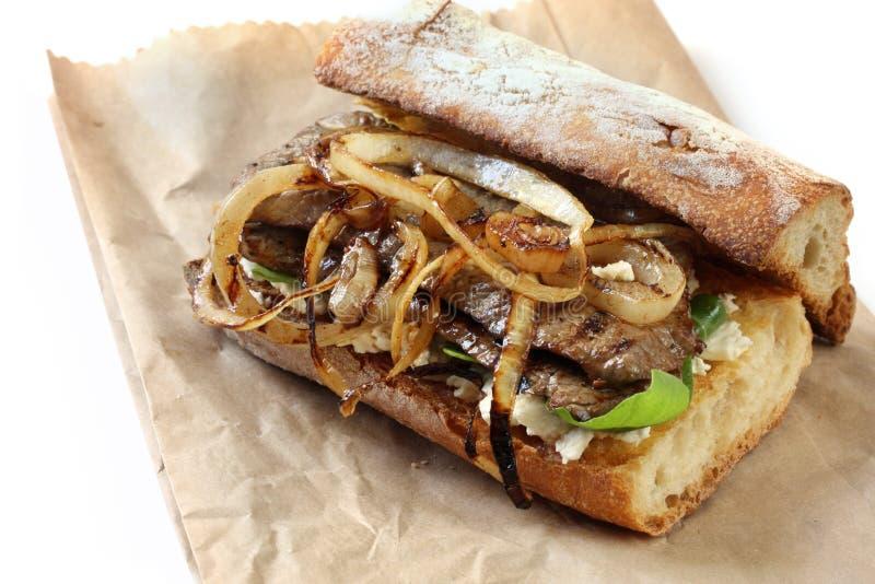Sandwich à la viande photo stock