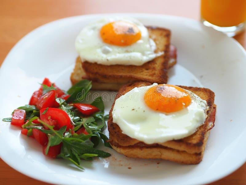 Sandwich à Madame de Croque photographie stock libre de droits