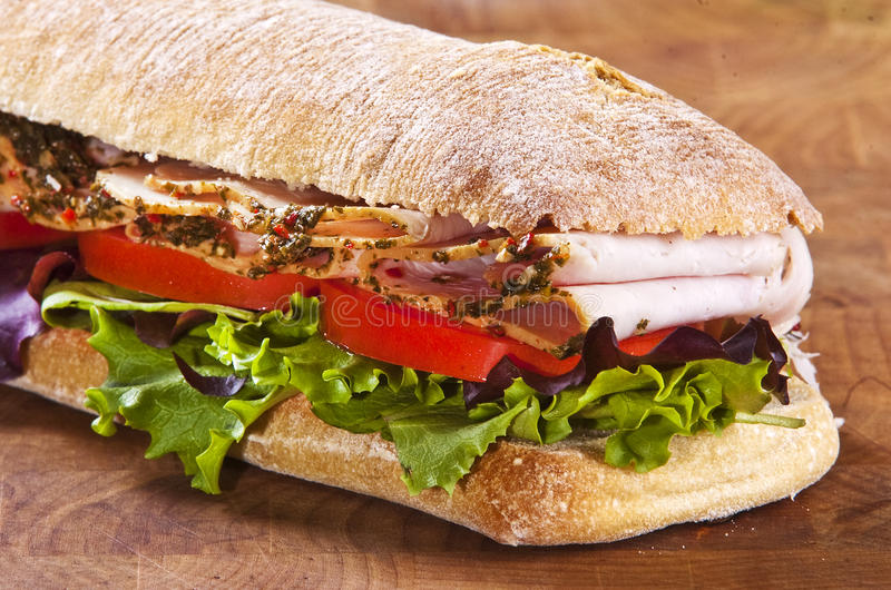 Sandwich à Panini images libres de droits