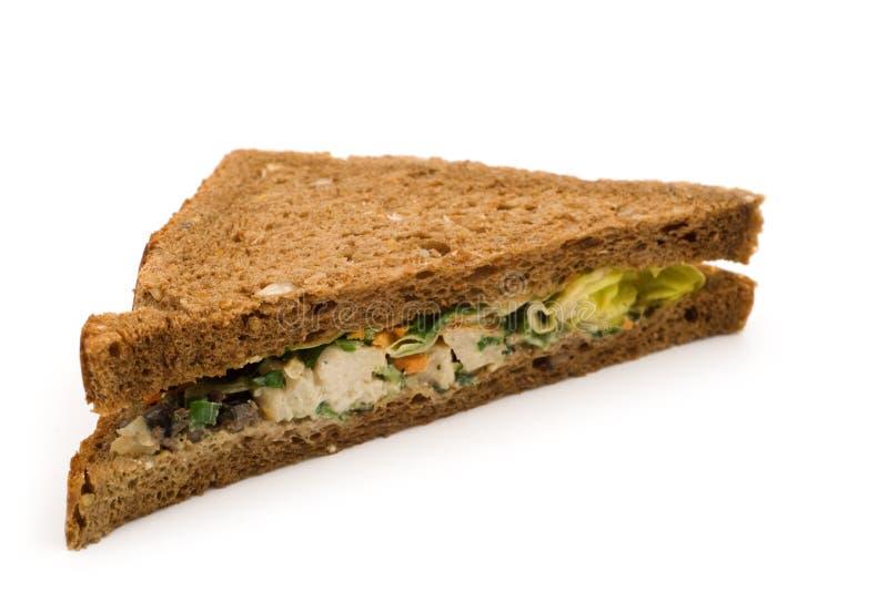 Sandwich à poissons de triangle photographie stock