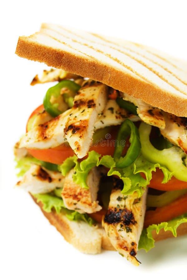 Sandwich à poulet photos stock