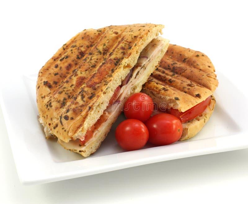 Sandwich à poulet grillé images stock